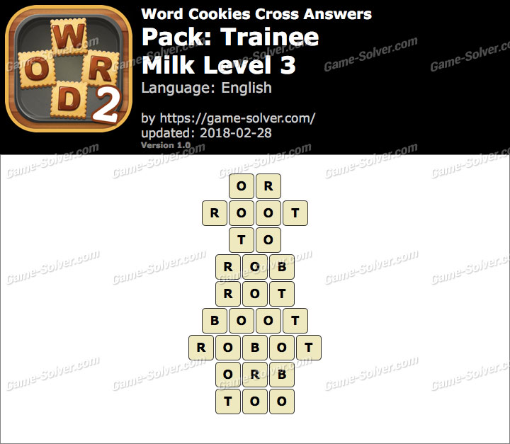 Word Cookies Cross Trainee-Milk Level 3 Answers