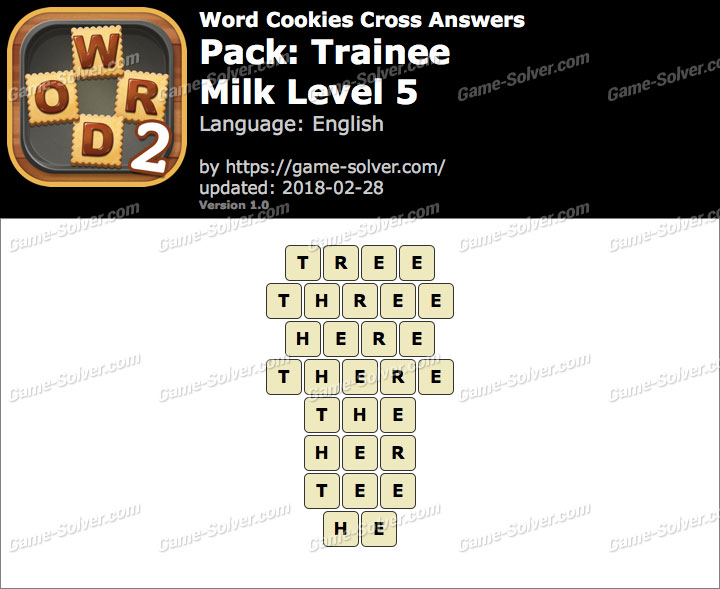 Word Cookies Cross Trainee-Milk Level 5 Answers