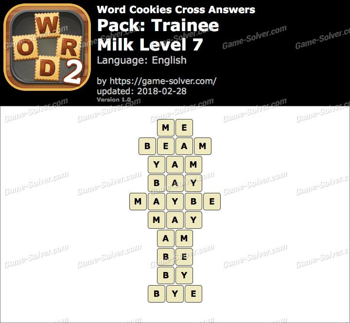 Word Cookies Cross Trainee-Milk Level 7 Answers