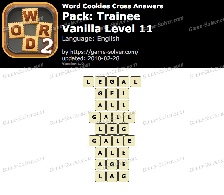 Word Cookies Cross Trainee-Vanilla Level 11 Answers