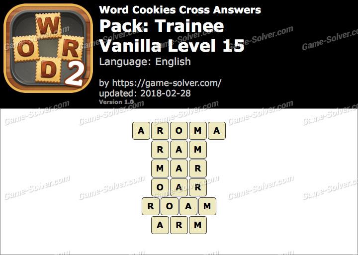 Word Cookies Cross Trainee-Vanilla Level 15 Answers