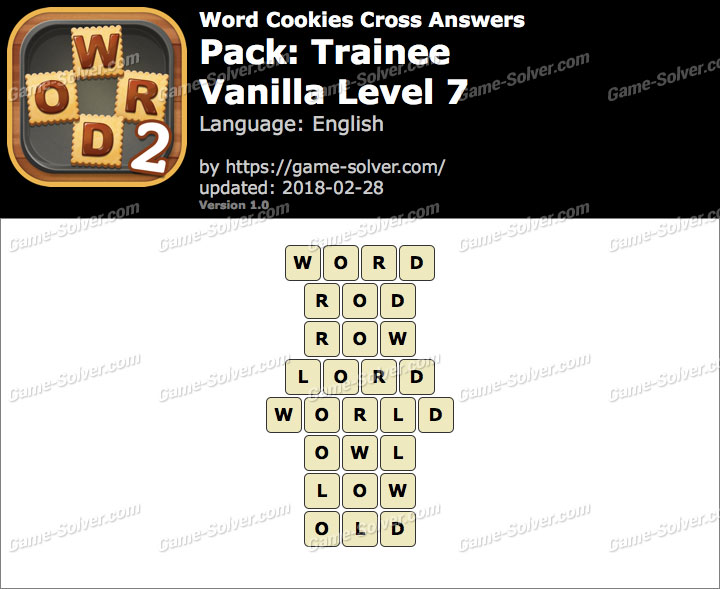 Word Cookies Cross Trainee-Vanilla Level 7 Answers