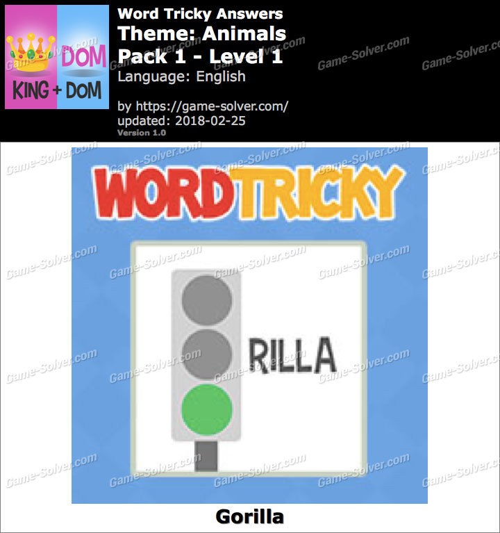 Word Tricky Animals Pack 1-Level 1 Answers