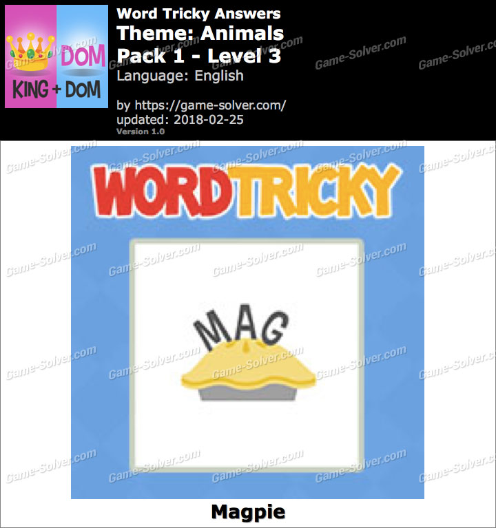 Word Tricky Animals Pack 1-Level 3 Answers