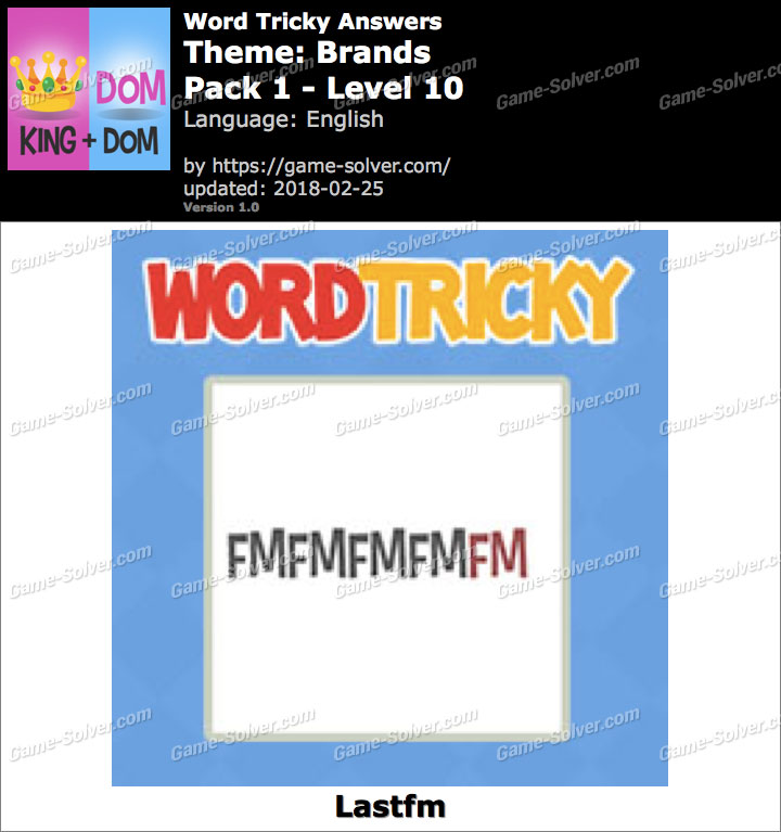 Word Tricky Brands Pack 1-Level 10 Answers
