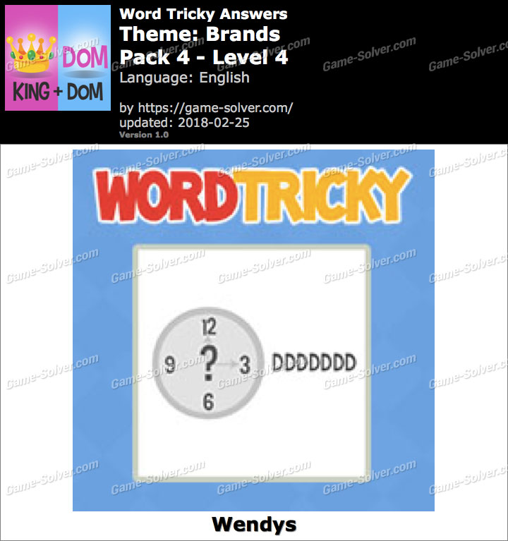 Word Tricky Brands Pack 4-Level 4 Answers