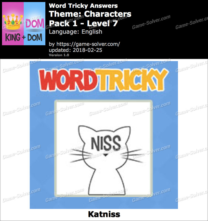 Word Tricky Characters Pack 1-Level 7 Answers
