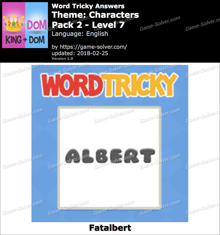 Word Tricky Characters Pack 2-Level 7 Answers