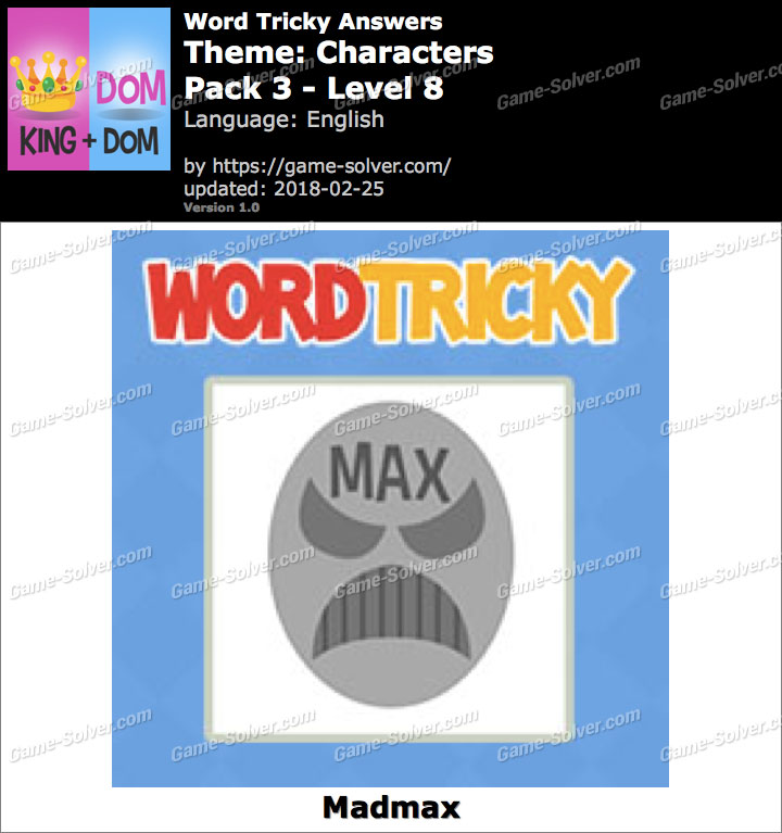 Word Tricky Characters Pack 3-Level 8 Answers