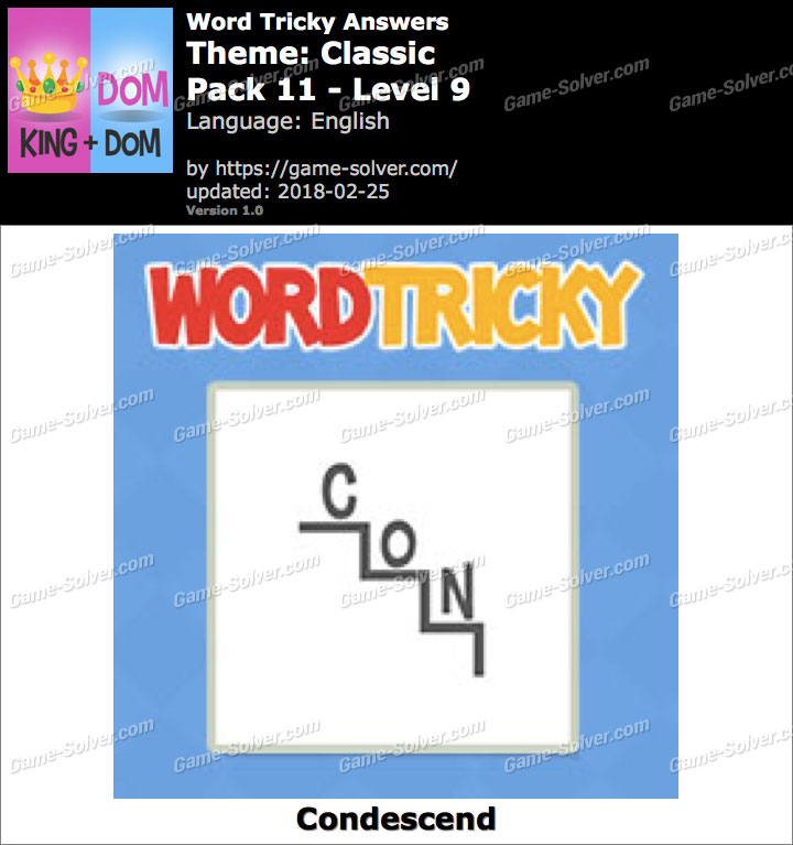 Word Tricky Classic Pack 11-Level 9 Answers