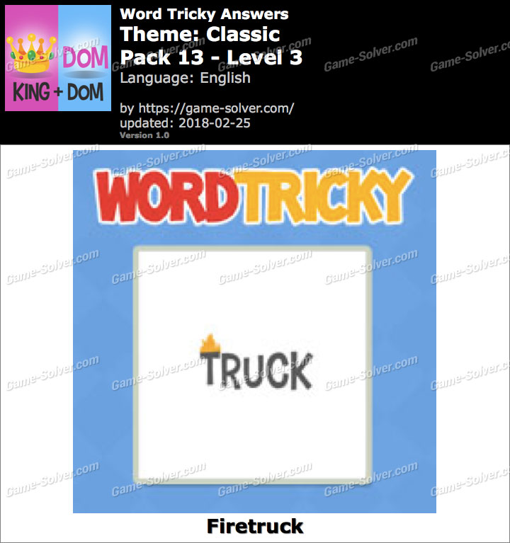 Word Tricky Classic Pack 13-Level 3 Answers