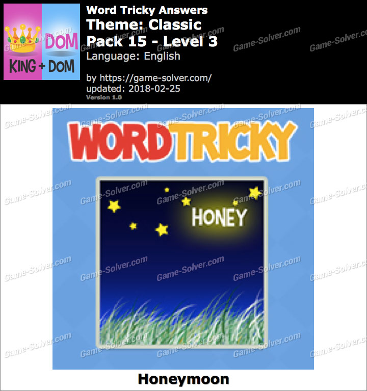 Word Tricky Classic Pack 15-Level 3 Answers