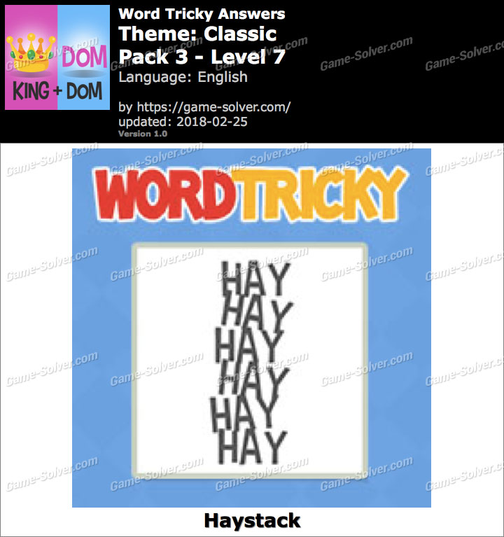 Word Tricky Classic Pack 3-Level 7 Answers