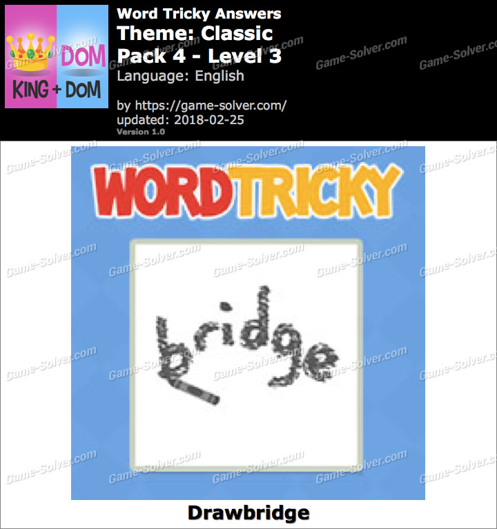 Word Tricky Classic Pack 4-Level 3 Answers
