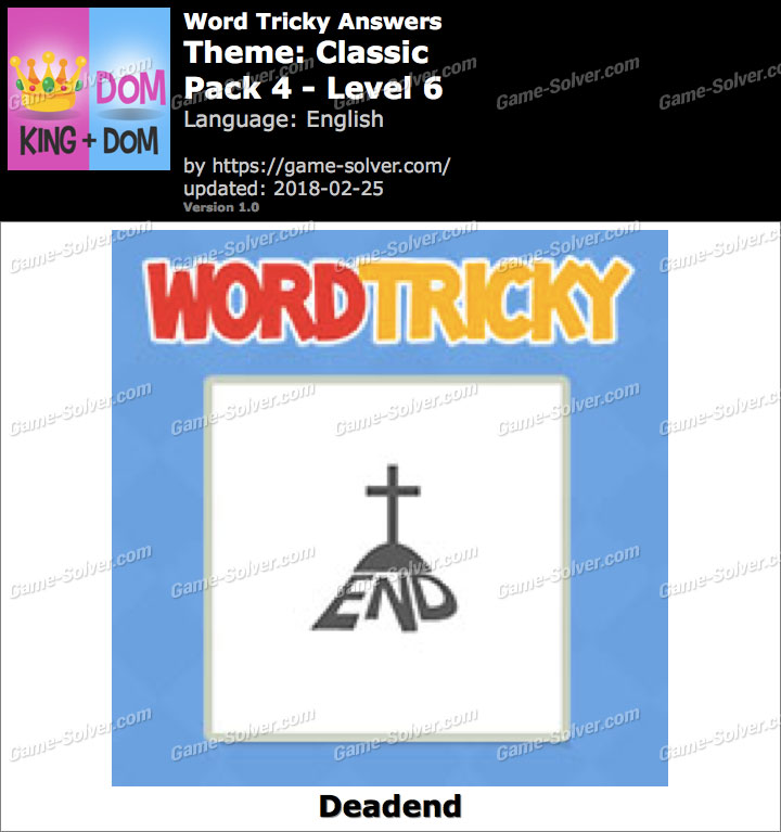 Word Tricky Classic Pack 4-Level 6 Answers