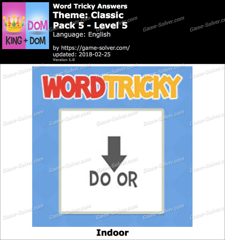 Word Tricky Classic Pack 5-Level 5 Answers