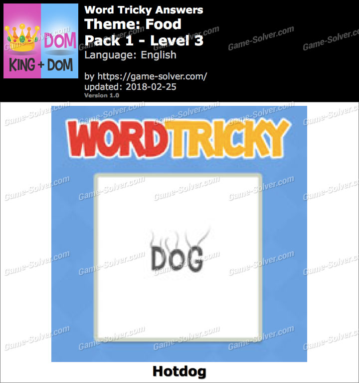 Word Tricky Food Pack 1-Level 3 Answers