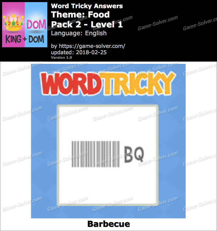 Word Tricky Food Pack 2-Level 1 Answers