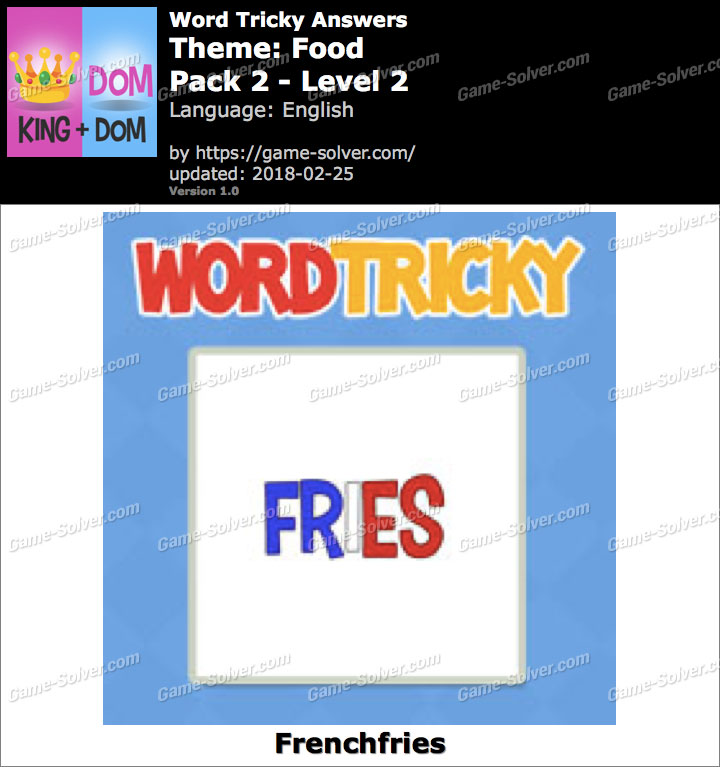 Word Tricky Food Pack 2-Level 2 Answers