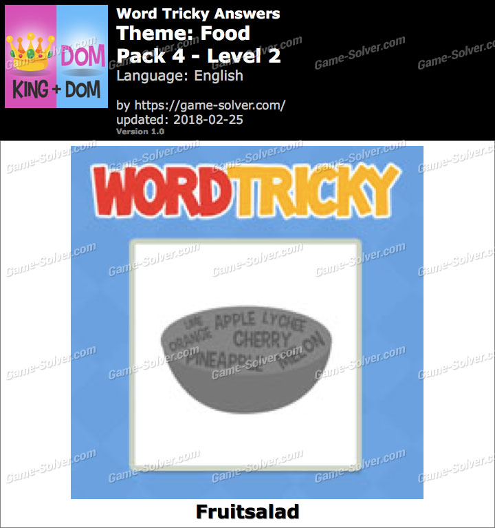 Word Tricky Food Pack 4-Level 2 Answers