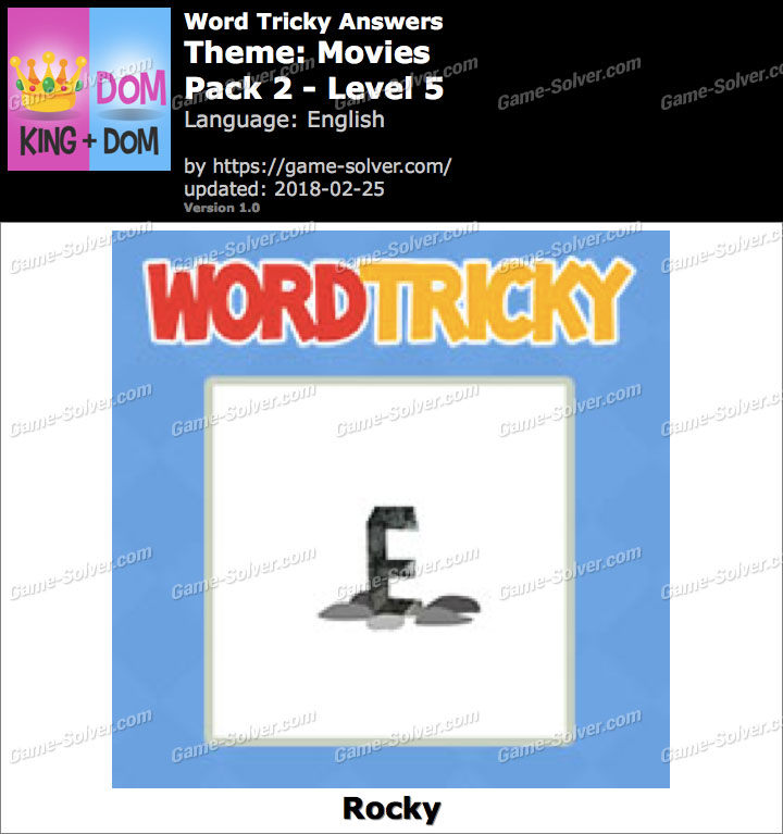 Word Tricky Movies Pack 2-Level 5 Answers