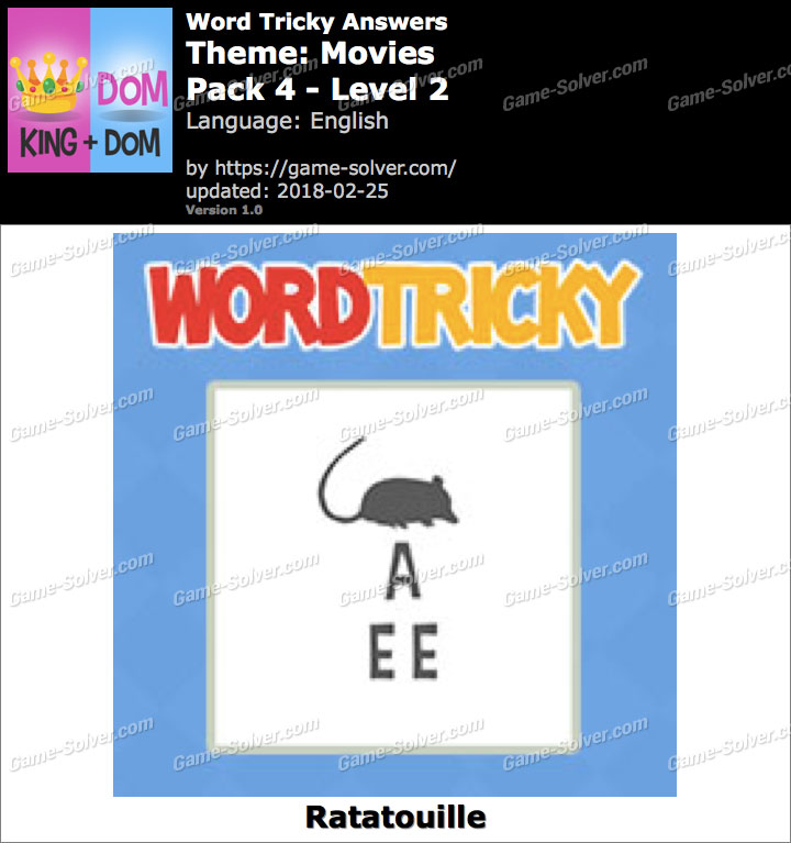 Word Tricky Movies Pack 4-Level 2 Answers
