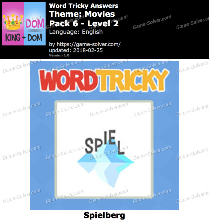 Word Tricky Movies Pack 6-Level 2 Answers
