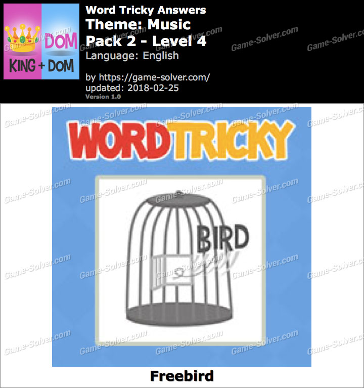 Word Tricky Music Pack 2-Level 4 Answers