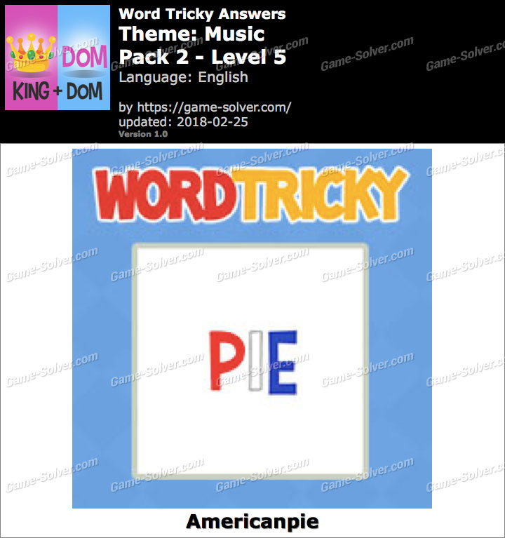 Word Tricky Music Pack 2-Level 5 Answers