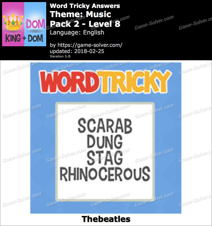 Word Tricky Music Pack 2-Level 8 Answers