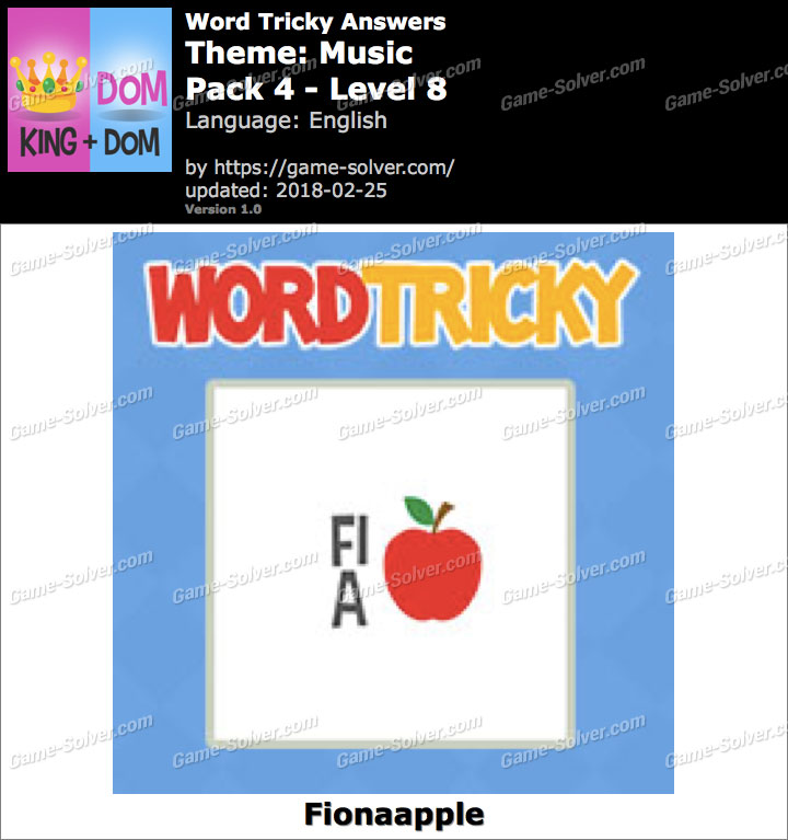 Word Tricky Music Pack 4-Level 8 Answers