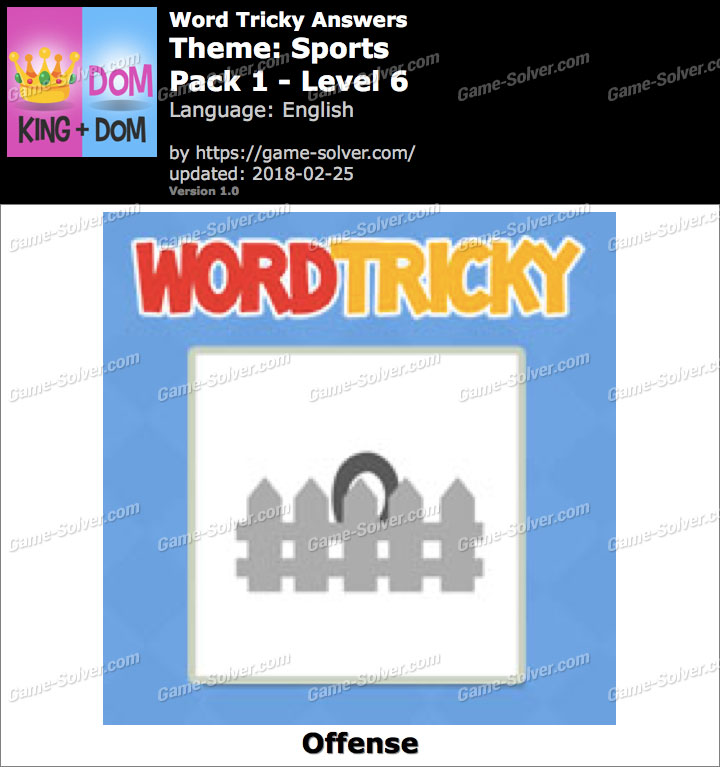 Word Tricky Sports Pack 1-Level 6 Answers