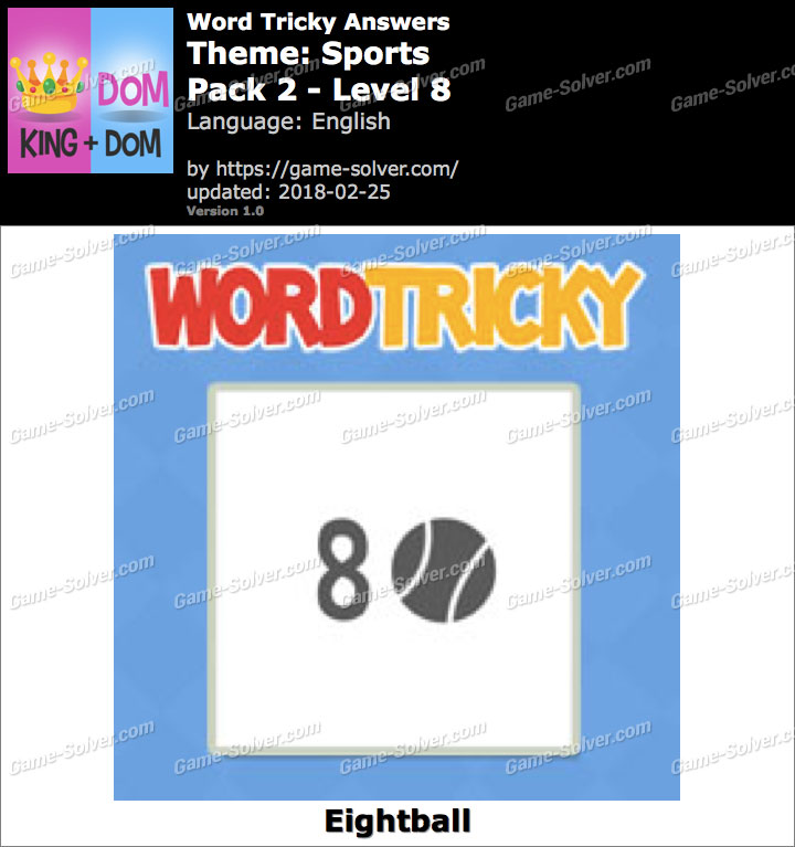 Word Tricky Sports Pack 2-Level 8 Answers