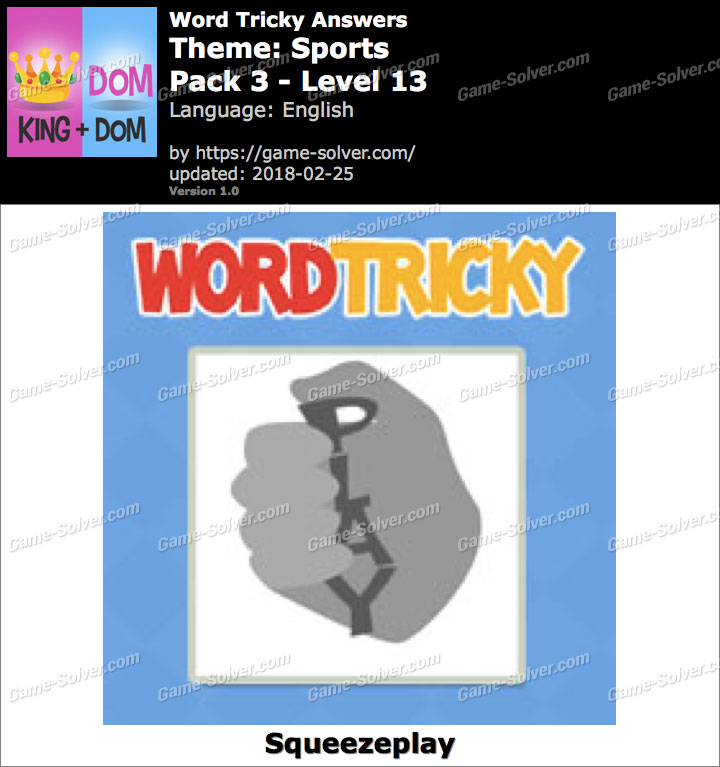 Word Tricky Sports Pack 3-Level 13 Answers