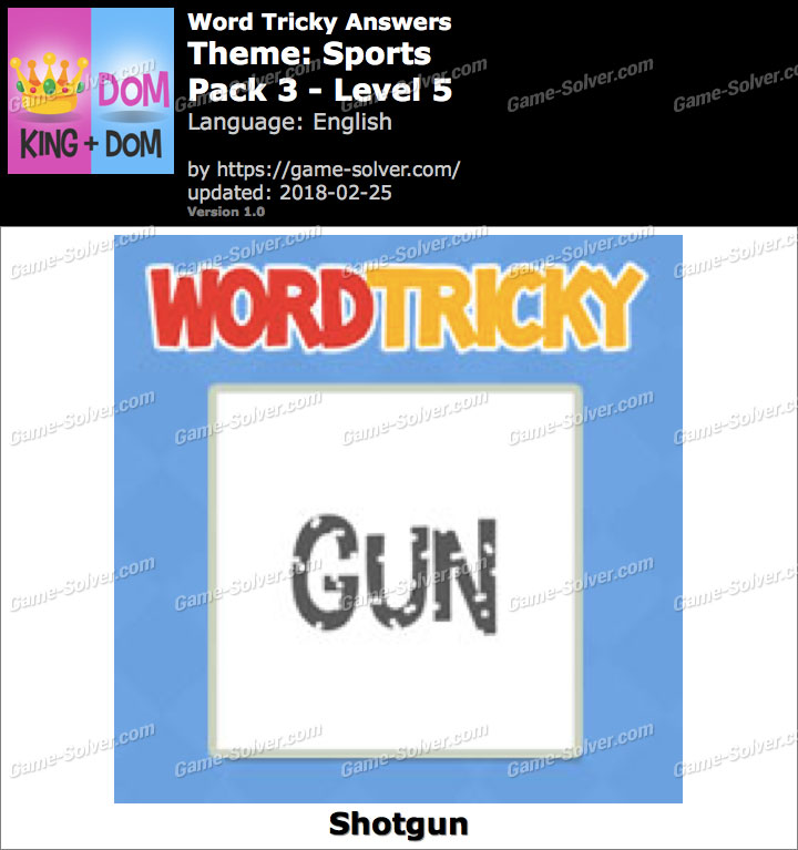Word Tricky Sports Pack 3-Level 5 Answers