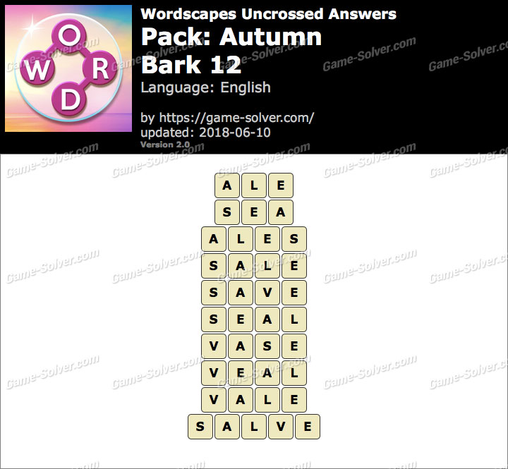 Wordscapes Uncrossed Autumn-Bark 12 Answers