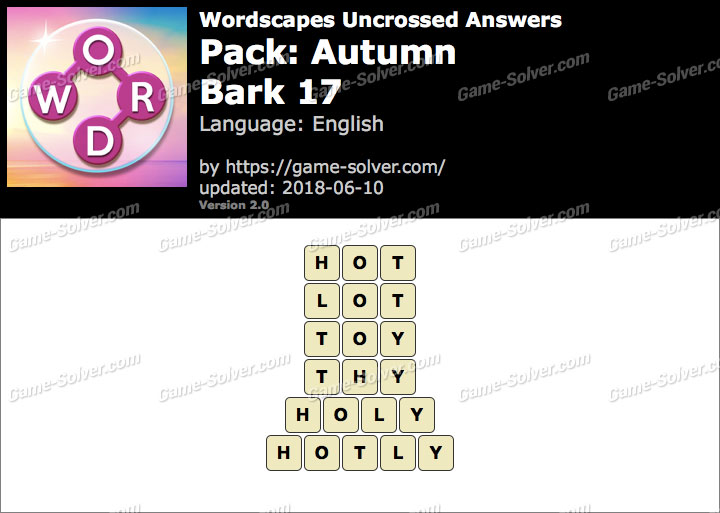 Wordscapes Uncrossed Autumn-Bark 17 Answers