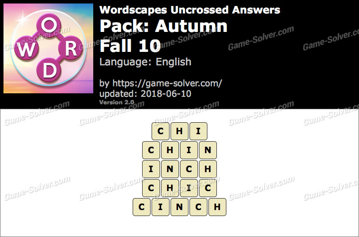 Wordscapes Uncrossed Autumn-Fall 10 Answers