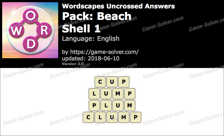 Wordscapes Uncrossed Beach-Shell 1 Answers