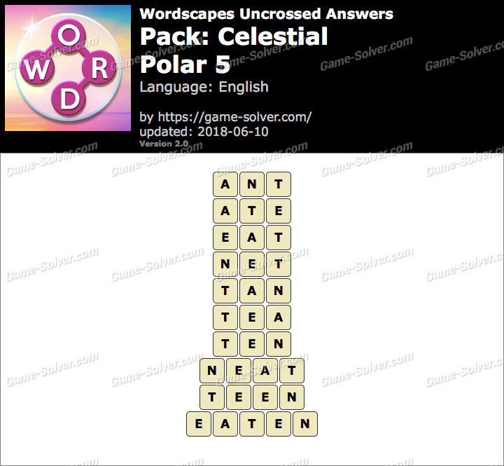 Wordscapes Uncrossed Celestial-Polar 5 Answers