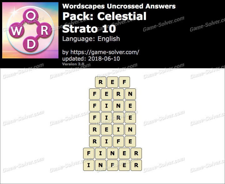 Wordscapes Uncrossed Celestial-Strato 10 Answers