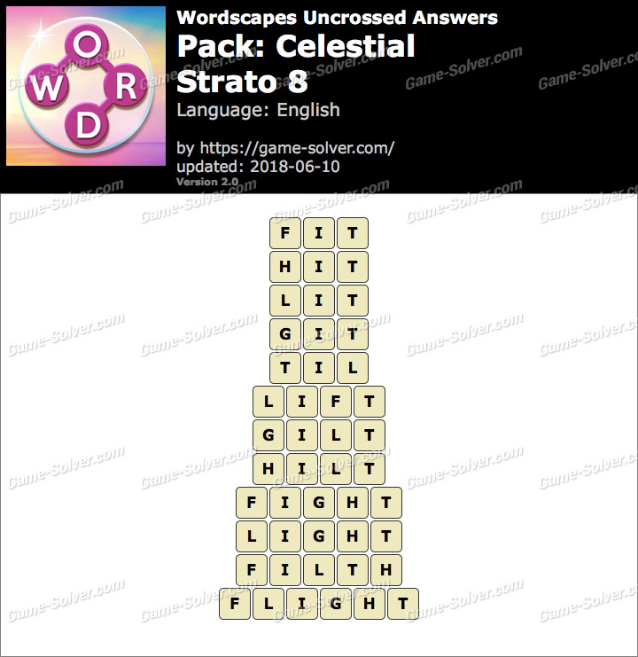 Wordscapes Uncrossed Celestial-Strato 8 Answers