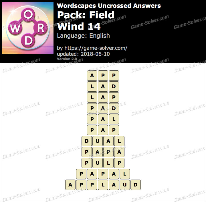 Wordscapes Uncrossed Field-Wind 14 Answers
