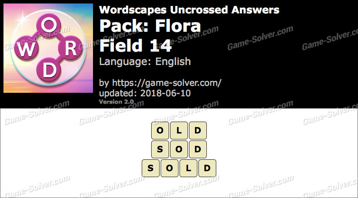 Wordscapes Uncrossed Flora-Field 14 Answers
