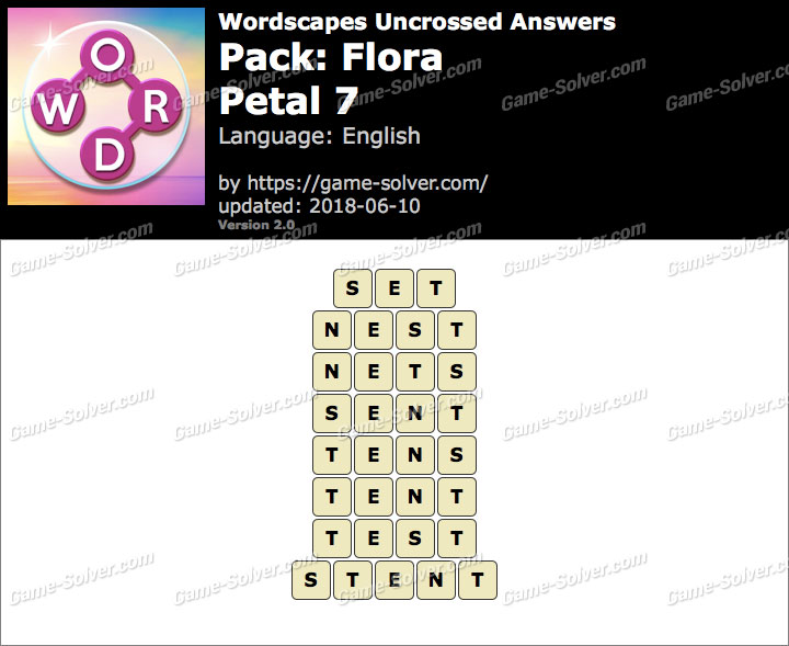 Wordscapes Uncrossed Flora-Petal 7 Answers