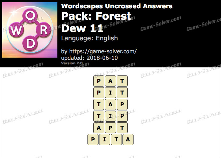 Wordscapes Uncrossed Forest-Dew 11 Answers