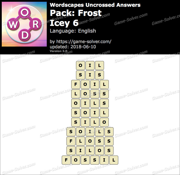 Wordscapes Uncrossed Frost-Icey 6 Answers