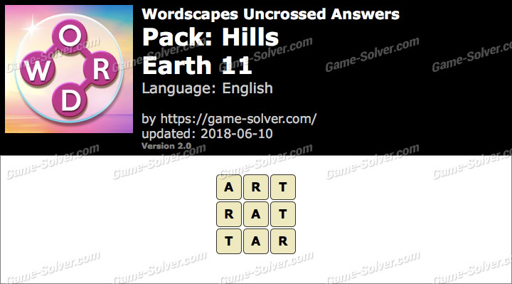 Wordscapes Uncrossed Hills-Earth 11 Answers