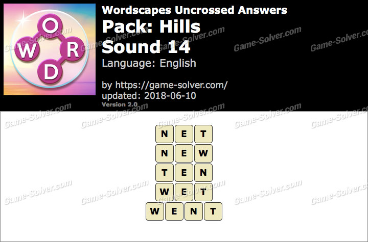 Wordscapes Uncrossed Hills-Sound 14 Answers