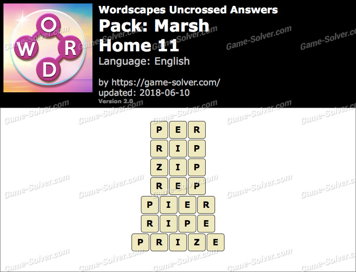 Wordscapes Uncrossed Marsh-Home 11 Answers